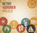 Vector summer poster Stock Images