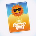 Vector summer sale coupon sun and discount abstract template Royalty Free Stock Photography