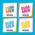 Vector summer sale template banner.