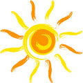Vector sun Royalty Free Stock Photo