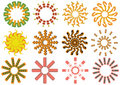 Vector sun icons Royalty Free Stock Photo