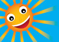 Vector sun with smile Royalty Free Stock Photography