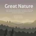 Vector sunrise landscape in appalachian mountains cartoon mountine background eps Stock Photos