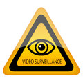 Vector surveillance warning sign Stock Image