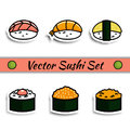 Vector sushi set isolated