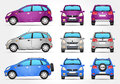 Vector Suv Car - Side - Front - Back view Royalty Free Stock Photo