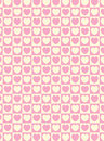 Vector Swatch Heart Striped Squares Fabric Background Stock Image
