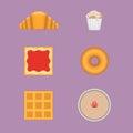 Vector sweet breakfast set