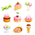 Vector sweets Royalty Free Stock Image