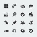 Vector sweets icons set mini Royalty Free Stock Photography