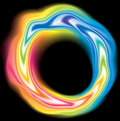 Vector swirling liquid surface vivid rainbow colors Royalty Free Stock Photo