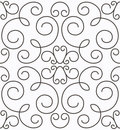 Vector swirly symmetric seamless pattern Stock Photos
