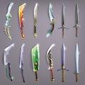 Vector swords set.