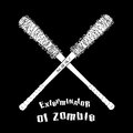 Vector symbol anti zombie on black background