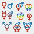Vector symbols of sexual orientation and gender isolated Stock Image