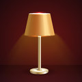Vector table lamp illustration on brown Stock Photography