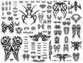 Vector Tatoo collection 101 symbols Royalty Free Stock Image
