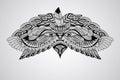 Vector Tattoo Eagle Head Royalty Free Stock Photo