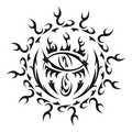 Vector tattoo eye Royalty Free Stock Photo