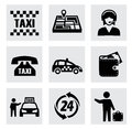 Vector taxi icons set this is file of eps format Royalty Free Stock Images