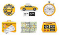 Vector taxi service icons. Part 1 Stock Image