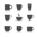 Vector tea cup set Royalty Free Stock Photo