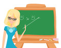 Vector teacher at the blackboard Royalty Free Stock Image