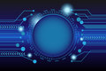 Vector tech circle and technology background
