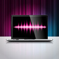 Vector technology desdign illustration shiny laptop device color background Stock Images