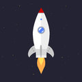 Vector technology ship rocket startup innovation.