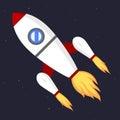 Vector technology ship rocket startup innovation.