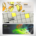 Vector template banners with digital technology and internet Royalty Free Stock Photo