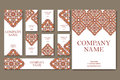 Vector template business card.  Geometric background. Card or invitation collection.  Islam, Arabic, Indian, ottoman motifs Royalty Free Stock Photo