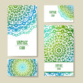 Vector template business card. Geometric background. Card or invitation collection. Islam, Arabic, ottoman motifs Royalty Free Stock Photo