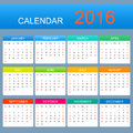 Vector template calendar years week starts with sunday Royalty Free Stock Photo