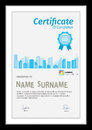 Vector template for certificate wite detial city scape.