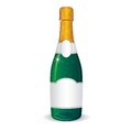 Vector template of champagne bottle blank label for your text and design Royalty Free Stock Photo