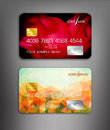 Vector template credit cards with flower themes Royalty Free Stock Photo