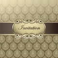 Vector template invitations Stock Photos
