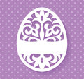 Vector Template for Laser cut Easter egg greeting card, tag, invitation or interior element with floral ornament.
