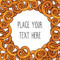 Vector template with many pretzels for fast food business.
