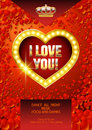 Vector template of poster for St Valentine event in casino
