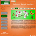 Vector template web site about  nature. Royalty Free Stock Photo
