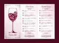 Vector templates for wine list Royalty Free Stock Photo