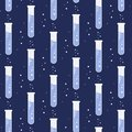 Vector test tube glassware. Chemistry pattern. Pharmacology background texture. Science print
