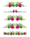 Vector text dividers with sugar-apple and flower