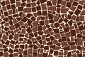 Vector texture of brown two colored asymmetric decorative tiles wall Royalty Free Stock Photo