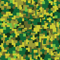Vector texture - green summer camouflage Royalty Free Stock Photo