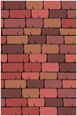 Vector texture illustration of seamless red clay roof tiles slate Stock Photography
