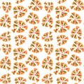 Vector texture of pattern with margherita pizza. Slices in a flat style. Seamless background Royalty Free Stock Photo